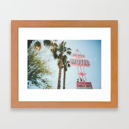 Motel Vintage Sign Framed Art Print