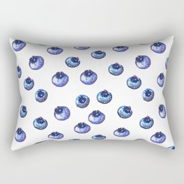 Pattern design with blueberries Rectangular Pillow