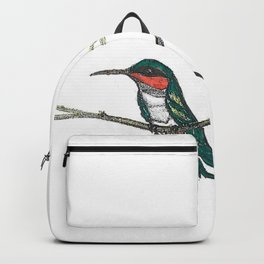 Hummingbird on a branch Backpack