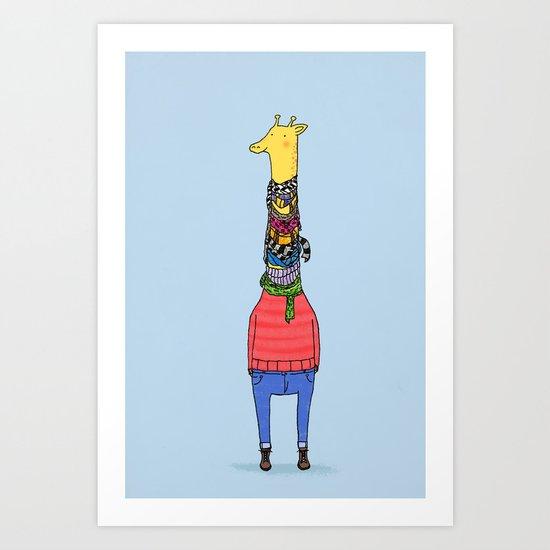 Scarf Lover Art Print