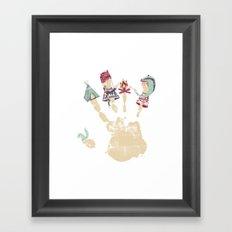 MARSHMALLOWS & CAMPFIRESa Framed Art Print