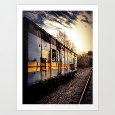 Fading Into The Sunset Art Print