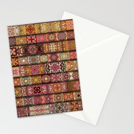 Vintage patchwork with floral mandala elements Stationery Cards
