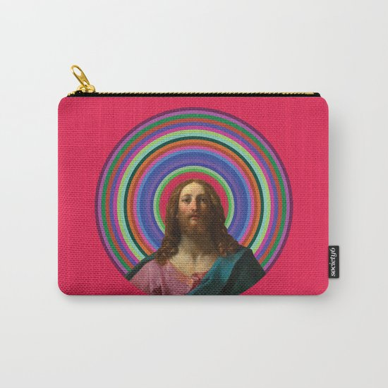 Rainbow Jesus Carry-All Pouch