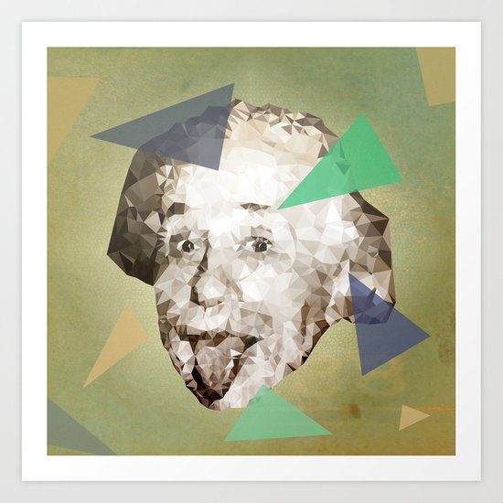 Smile Einstein, Smile Art Print