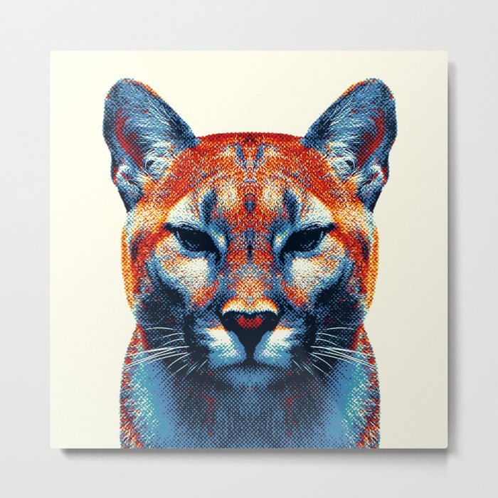 Puma -  Colorful Animals Metal Print