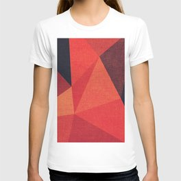 Abstract geometric patter.Triangle background T-shirt