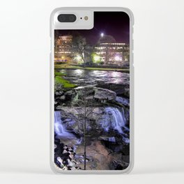 """Falls Park in the Evening"" (Greenville, SC) Clear iPhone Case"