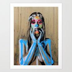 diosas de la noche #2 Art Print