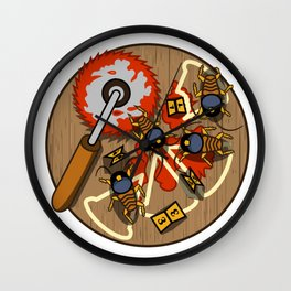 PIZZA POLICE Wall Clock