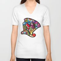 mad hatter V-neck T-shirts featuring Mad hatter by Ilse S