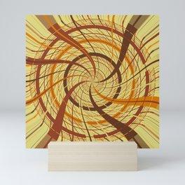 Brown vortex Mini Art Print
