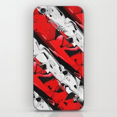 Abstract Red And White Stripes iPhone & iPod Skin