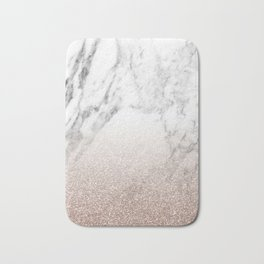 Marble sparkle rose gold Bath Mat