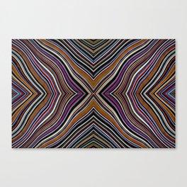 Wild Wavy X Lines 26 Canvas Print