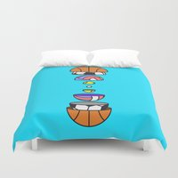 volleyball Duvet Covers featuring Big Balls by Jan Luzar