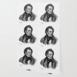 Kriehuber- Portrait of Schubert Wallpaper