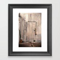 Door for String Framed Art Print