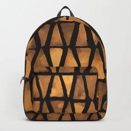 Rust Triangle Mosaic Backpack