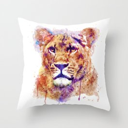 Lioness Head Throw Pillow