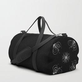 Silver Embossed Corners Duffle Bag