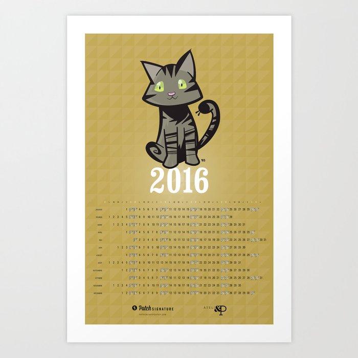 Calendrier 2016 — Vekteur Art Print