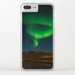 Northern Lights in Iceland Clear iPhone Case