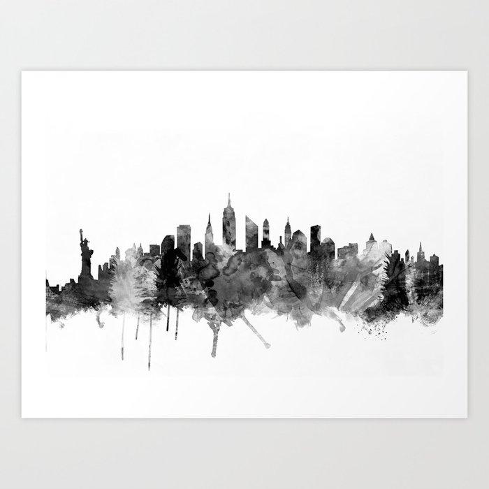 New York City Skyline Art Print By Artpause Society6