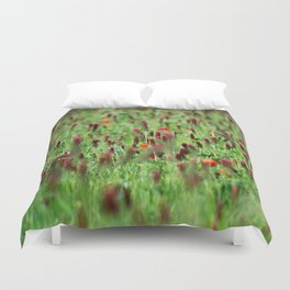 Poppies in the Field Duvet Cover