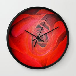 The Heart of the Rose Wall Clock