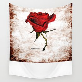 My Love is like a red red rose... Wall Tapestry