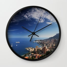 Monaco, French riviera, Sea side, Coastline, Riviera, holiday Wall Clock