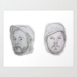 Modest Beards Art Print