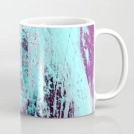 01012: a vibrant abstract piece in teal and ultraviolet Coffee Mug