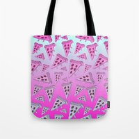 pizza Tote Bags featuring PIZZA by TheYUCK