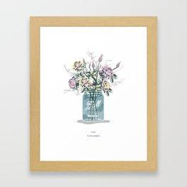 the simple life.  Framed Art Print