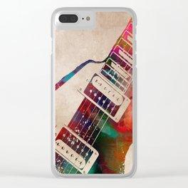 guitar art 7 #guitar #music Clear iPhone Case