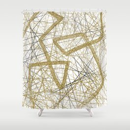 Glitter and gold Shower Curtain