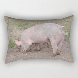 Muddy Pig's Feet Rectangular Pillow