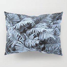 Fern | Sapphire | Deep Blue Botanical Art Pillow Sham