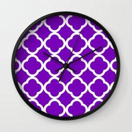 Violet Quatrefoil Wall Clock