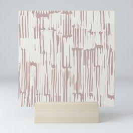 Simply Bamboo Brushstroke Lunar Gray on Clay Pink Mini Art Print