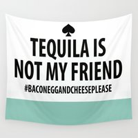 tequila Wall Tapestries featuring Kate Spade - Tequila by Katieb1013