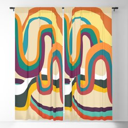 Groovy rainbow of doom Blackout Curtain