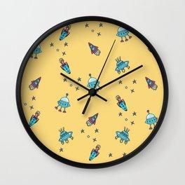 Boys Galaxy Rocket Space Wall Clock