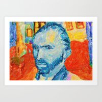 van gogh Art Prints featuring van gogh by manish mansinh