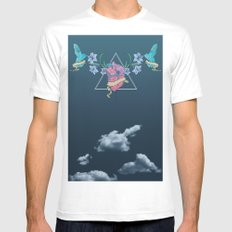 Heart In The Sky Mens Fitted Tee White MEDIUM