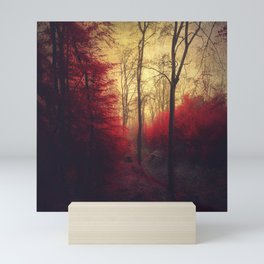 Ruby Red Forest Mini Art Print