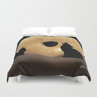 howl Duvet Covers featuring Donut Howl by Geni