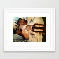 guitar Framed Art Prints featuring guitar by Brianna M. Garcia